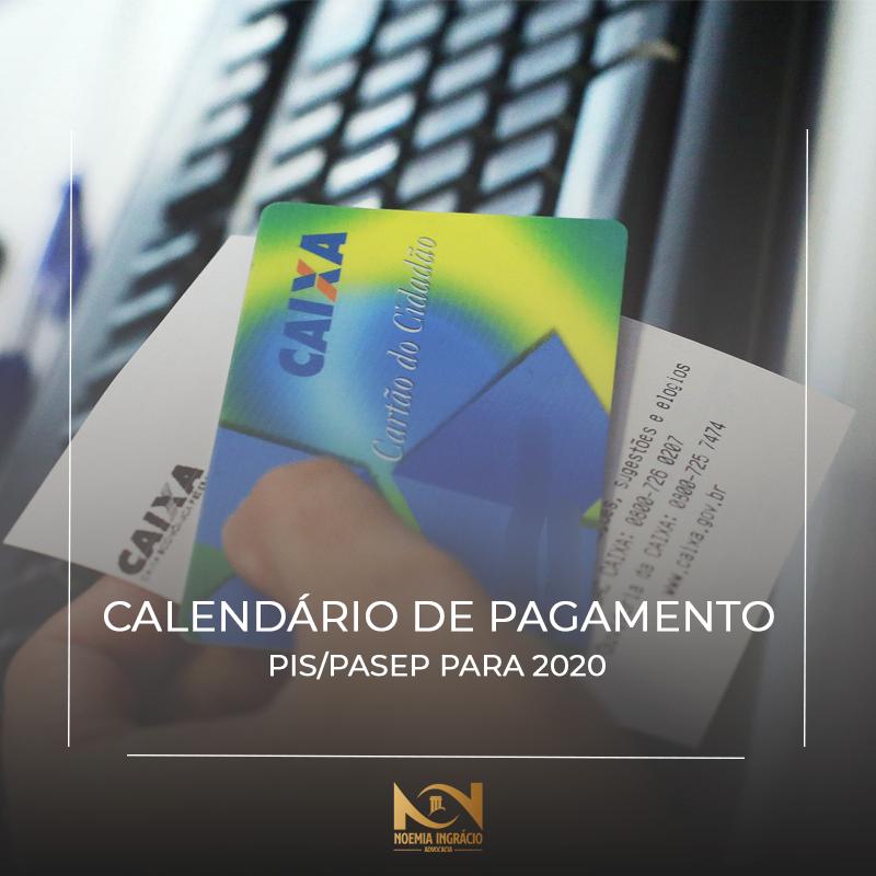 Calendario Pis Pasep 2020